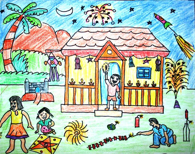 Diwali Drawing at GetDrawings.com.