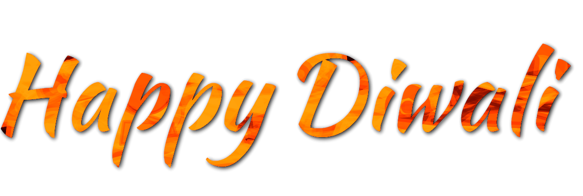 Happy Diwali Text PNG Picture.