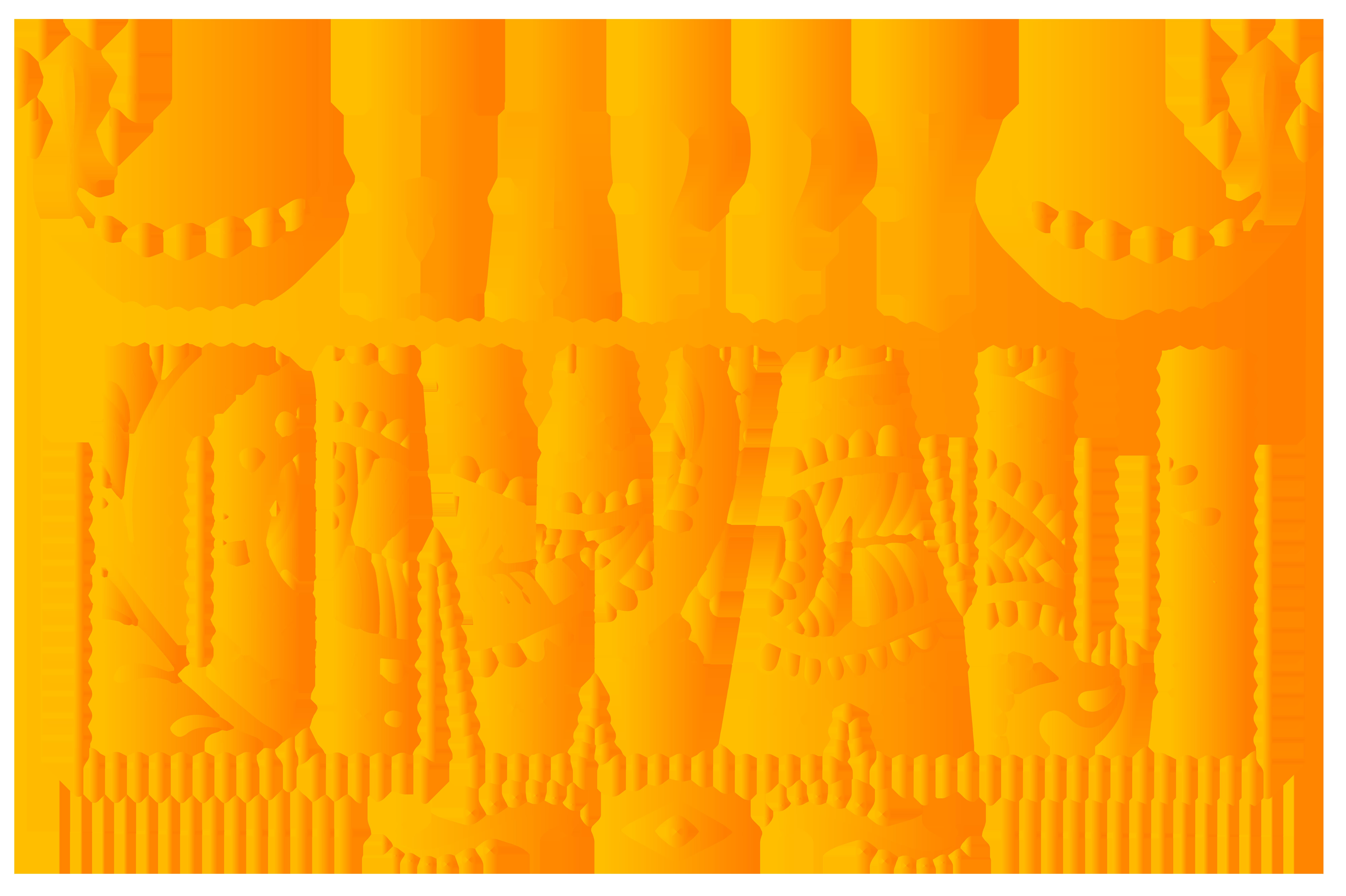 Happy Diwali Orange Text Transparent Clip Art Image.
