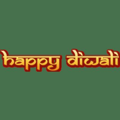Happy Diwali Text transparent PNG.