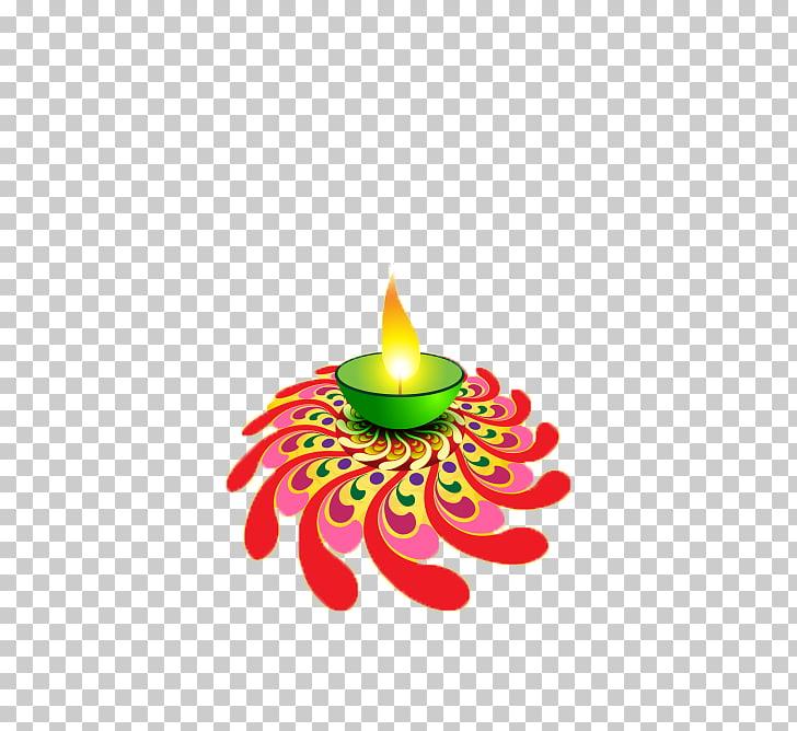 Diwali Greeting card Wish Diya, Burning candles PNG clipart.