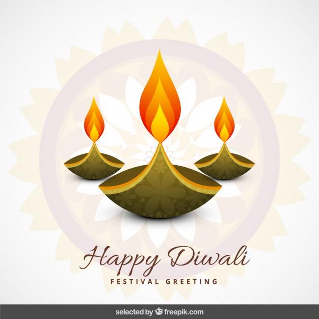 Diwali greeting Vector.