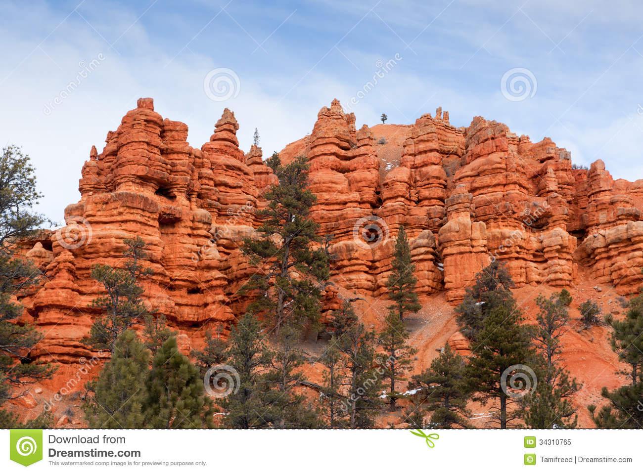 Red Canyon Utah Royalty Free Stock Photo.