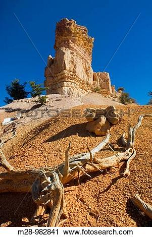 Stock Photography of Weathered pinnacle, Red Canyon Dixie National.