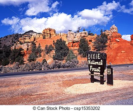 Stock Photography of Red Canyon, Dixie National Forest..