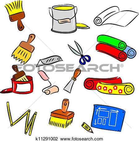 Clipart of diy decorating tools k11291002.