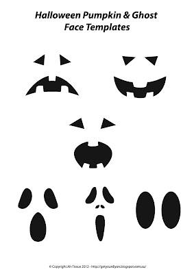 Free Ghost & Pumpkin face Templates.