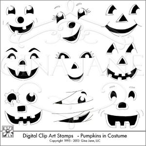 Halloween Pumpkin Faces.