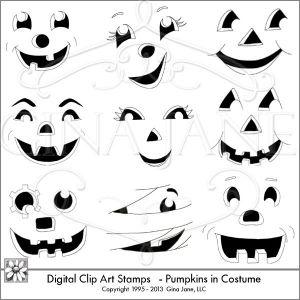 Halloween Pumpkin Faces.