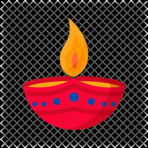 Diwali Diya Icon PNG Clipart Vector (2).