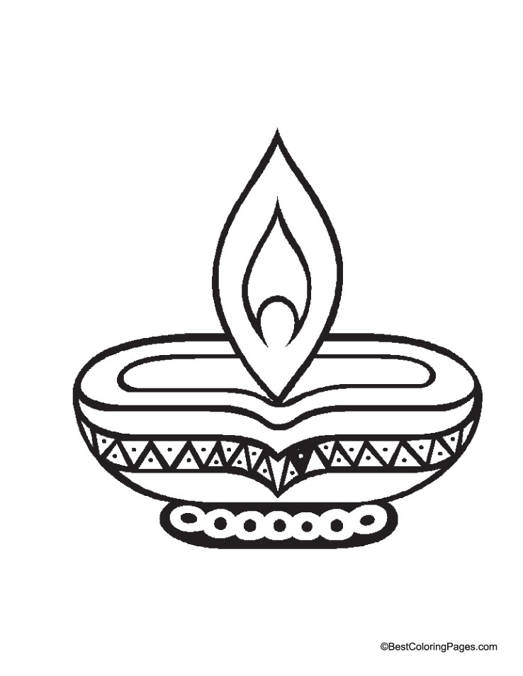 Lovely Diwali Coloring Pages 59 For Your Picture Coloring Page.