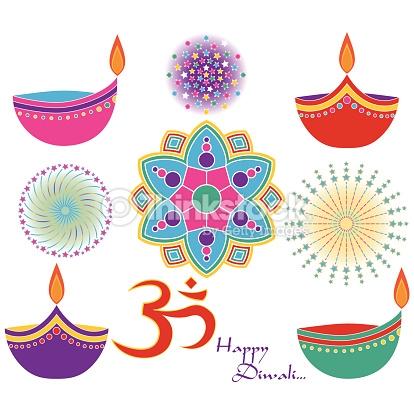 Diwali Clip Art Vector Art.