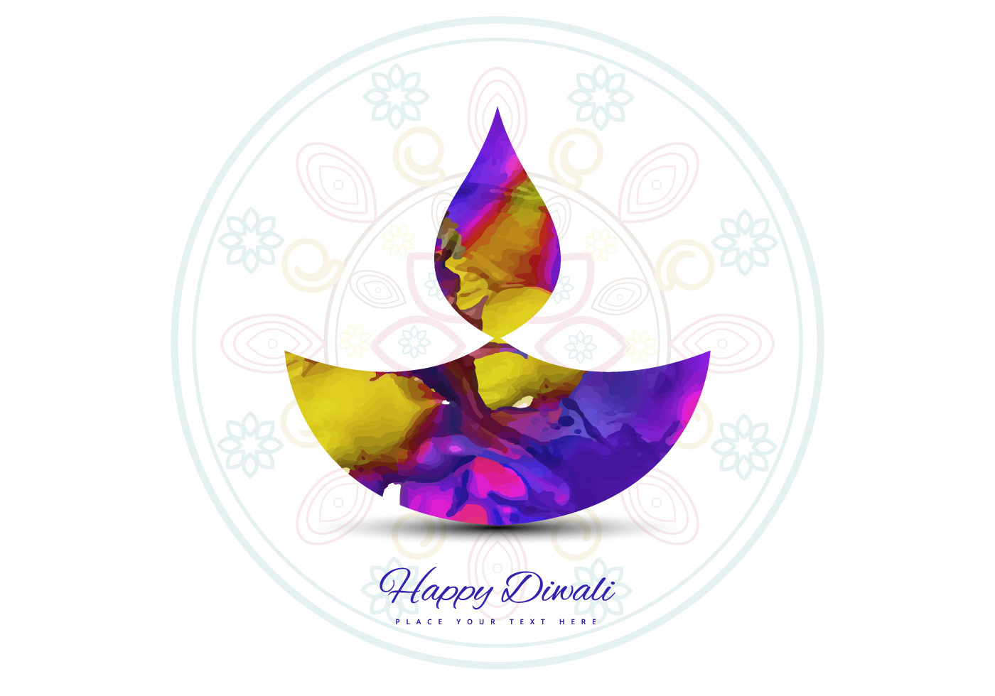 Diya Clipart With Color Clipground