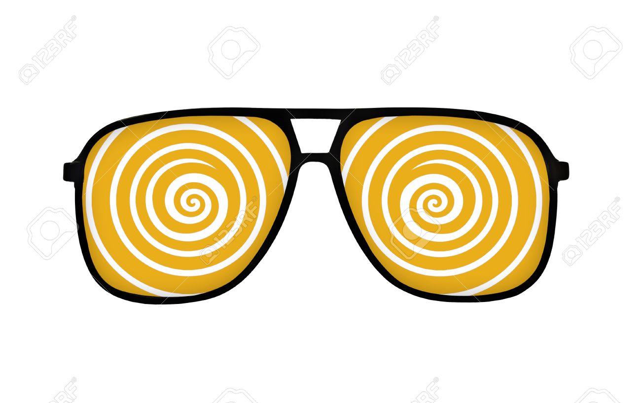 Dizzy Line In Eyeglasses On White Stock Photo, Picture And Royalty.
