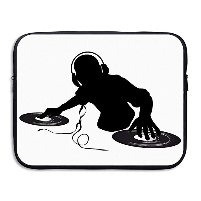 Amazon.com: Laptop Sleeve Case DJ Clipart Black And White Briefcase.