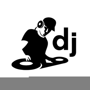 Black And White Dj Clipart.