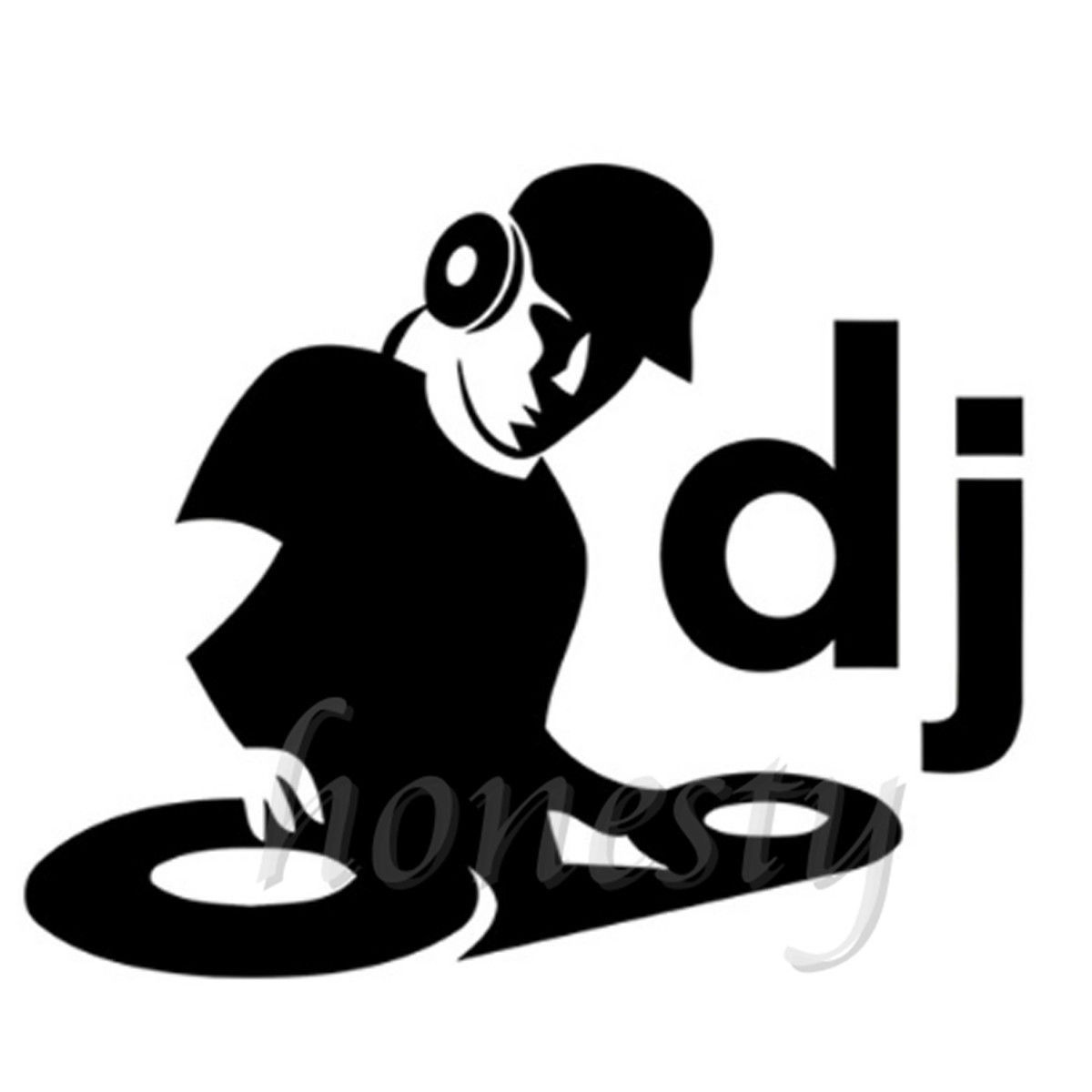 Dj Clipart Black And White.