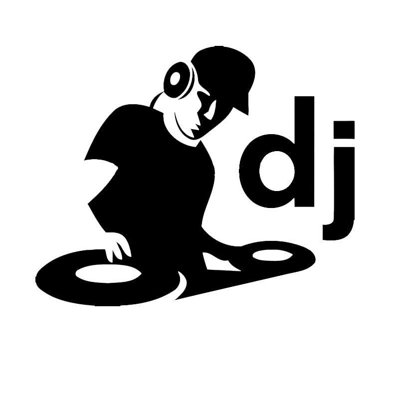 dj disk jockey logo.