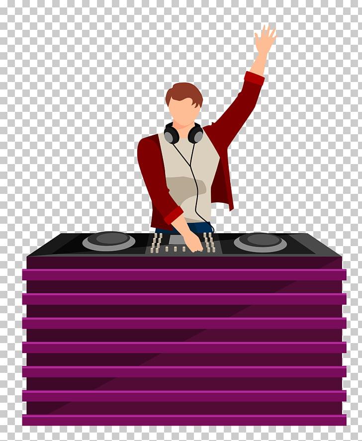 Text Cartoon Illustration, DJ staff material PNG clipart.