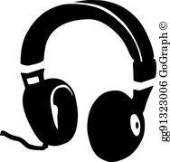 Dj Headphones Clip Art.