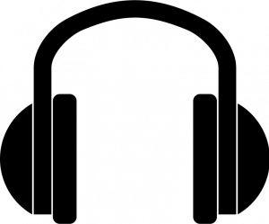 Dj headphones clipart.