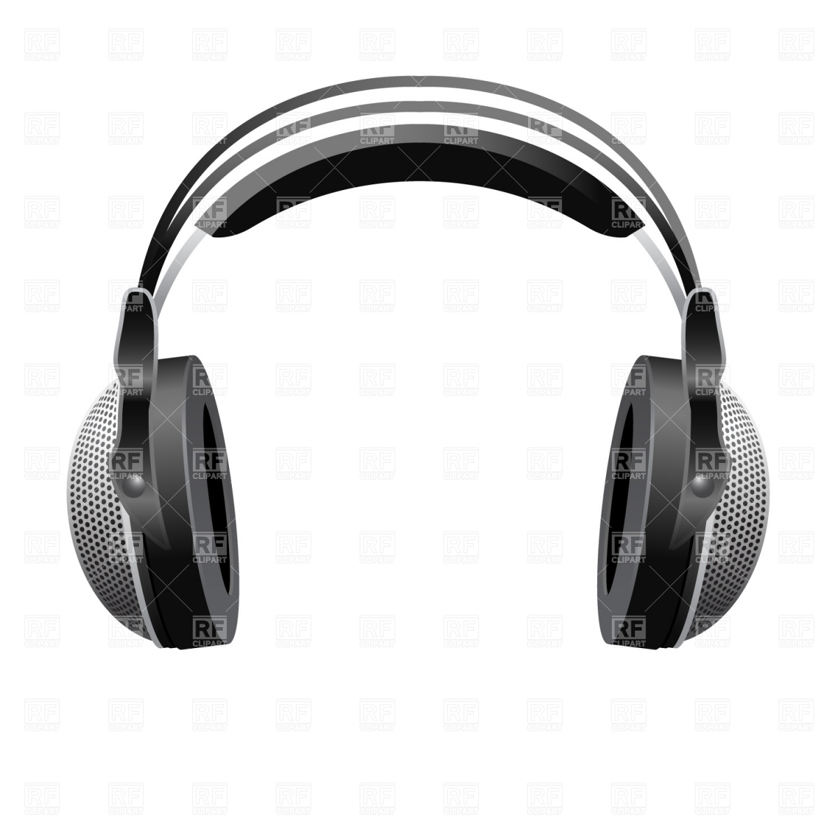 Large DJ headphones Vector Image #911.