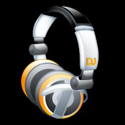 DJ Headphones Icon, PNG ClipArt Image.