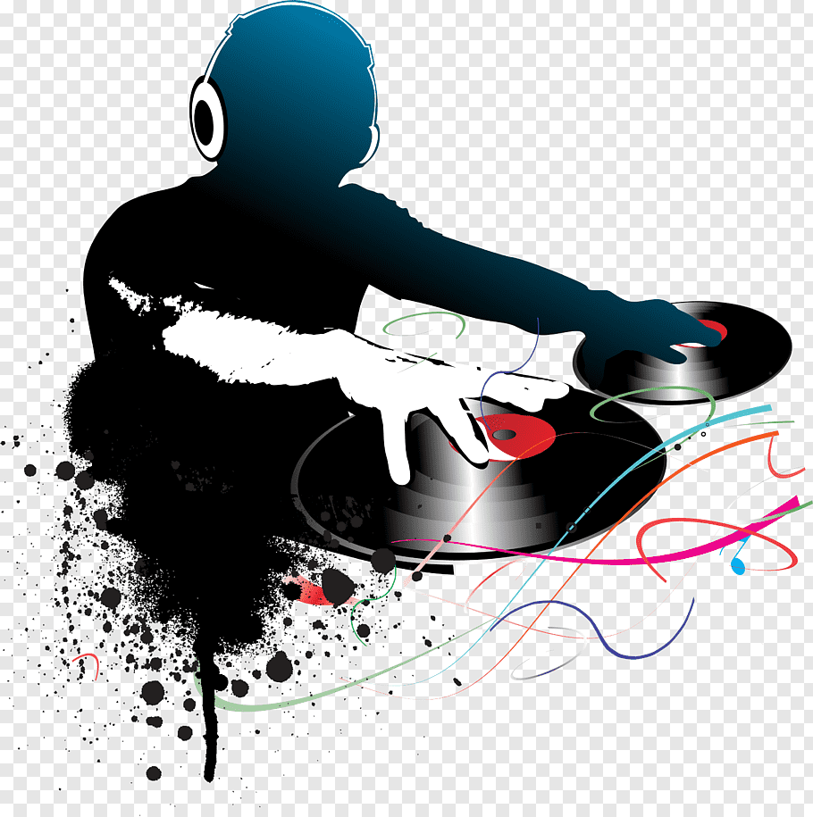 DJ, Disc jockey graphy, Blue line dj free png.