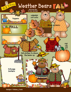 Weather Bears Fall Clip Art Download.