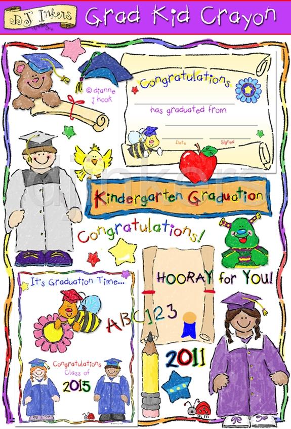 Graduation Clip Art Smiles by DJ Inkers.