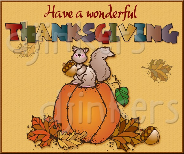 Thanksgiving clip art sayings created by DJ Inkers.