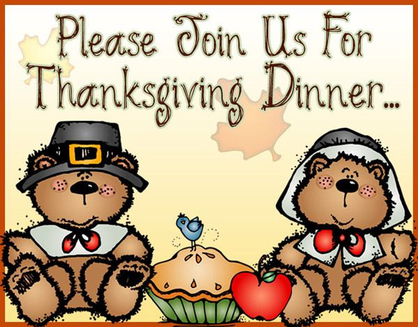 Cute Thanksgiving dinner invite :) Made with DJ Inker's Thankful.