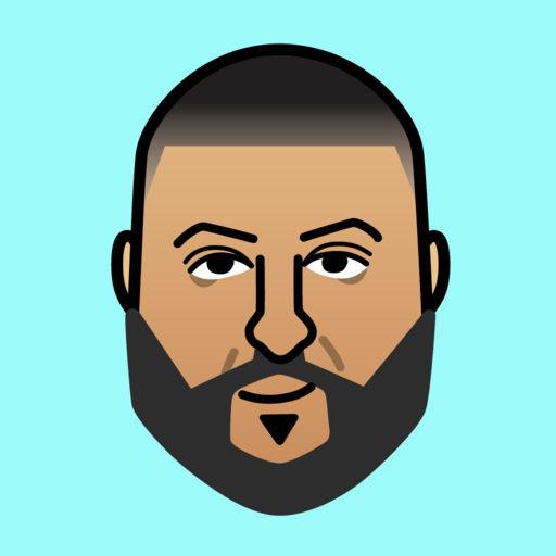 MOJI TALK Stickers by DJ Khaled App for iPhone.