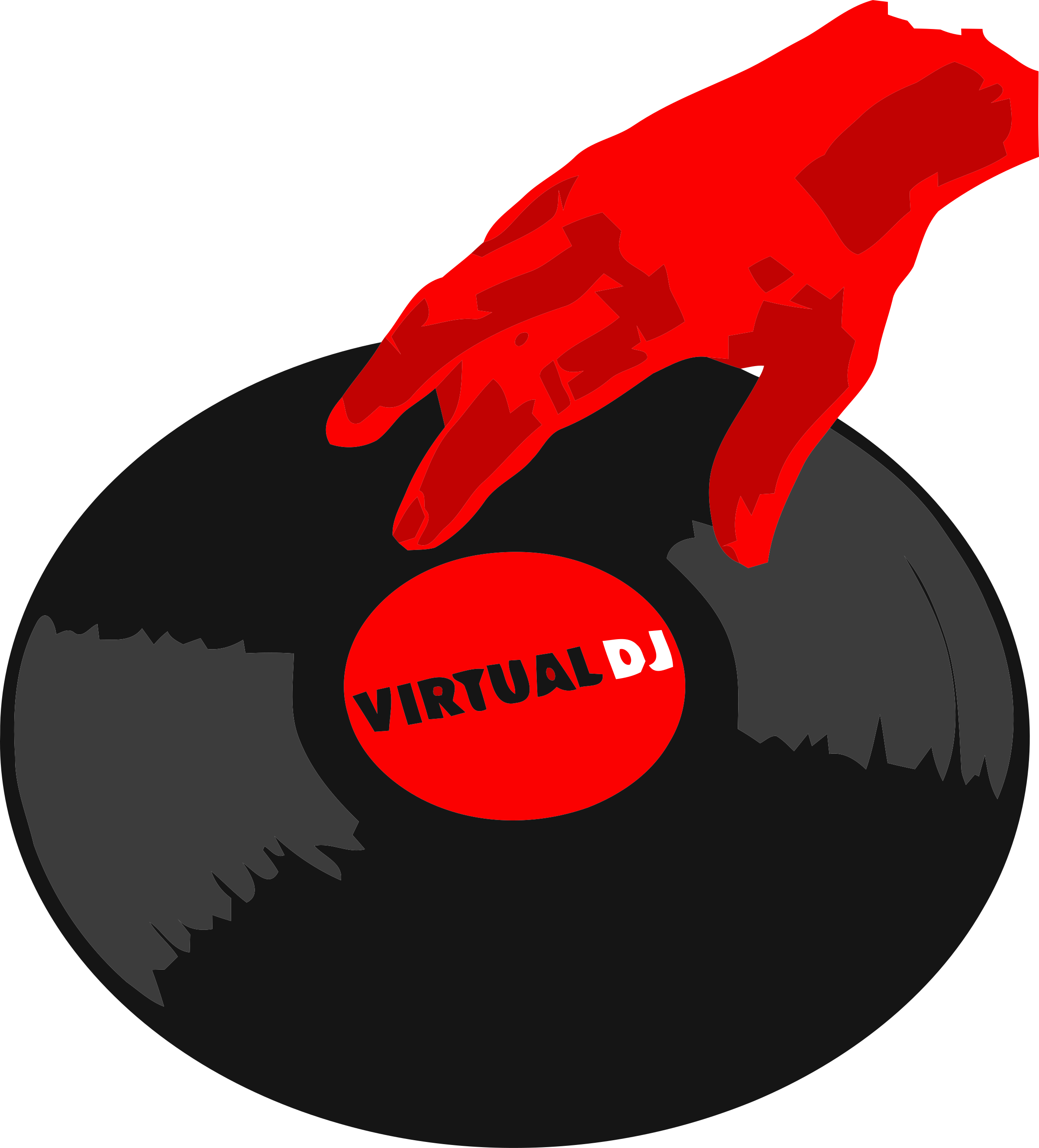 Virtual DJ Disc jockey Logo.
