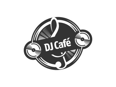 DJ Cafe Logo Design by Dalius Stuoka.