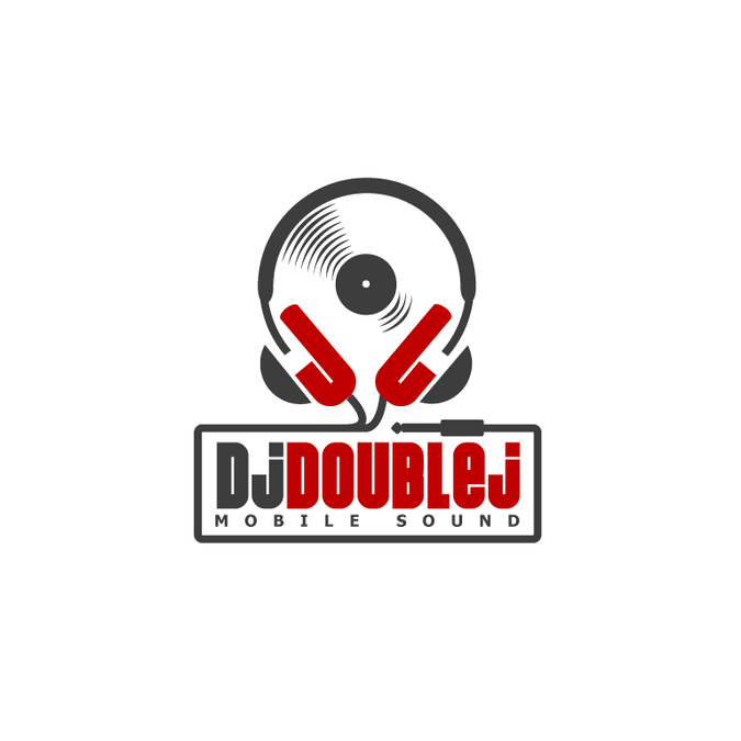 Create a sweet iconic design logo for DJ Double J.