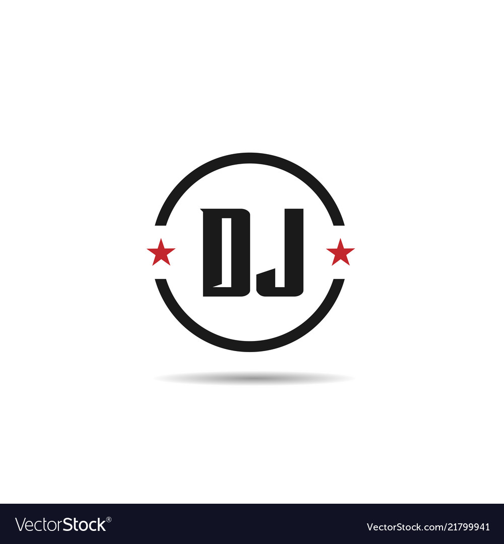 Initial letter dj logo template design.