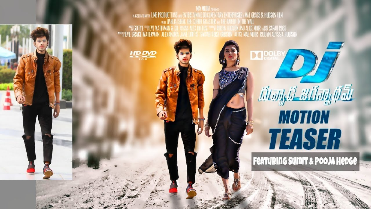 DJ movie Poster feat. Pooja Hedge.