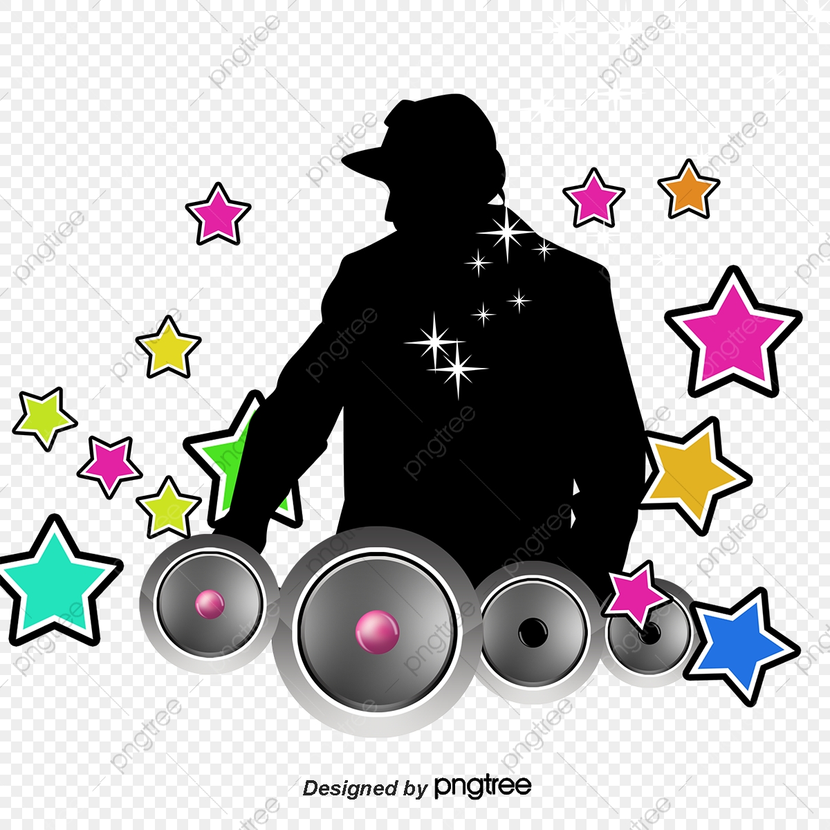 Dj Vector With Headset, With A Headset, Dj Vector, Music PNG and.