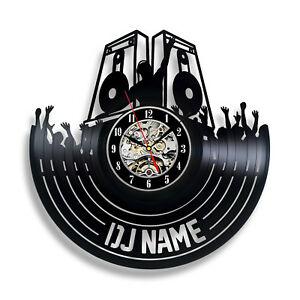 Details about DJ Vinyl Clock Wall Home Decor Gift For Christmas Custom Name  Disco Art Vintage.