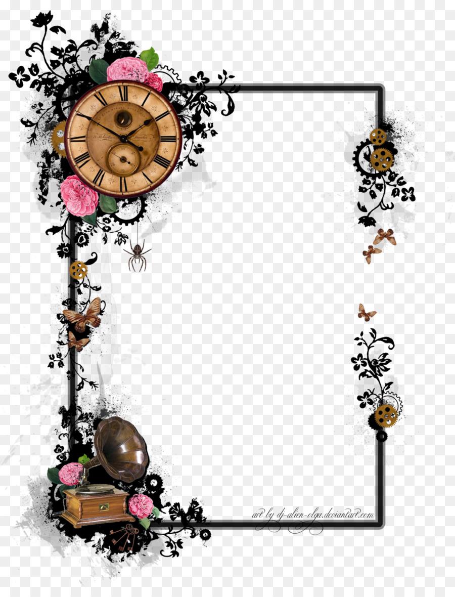 Flower Background Frame png download.