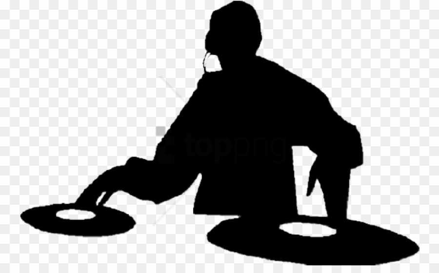 Dj Silhouette PNG Disc Jockey Silhouette Clipart download.
