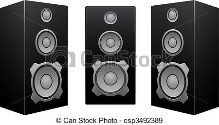 Dj speakers clipart » Clipart Station.