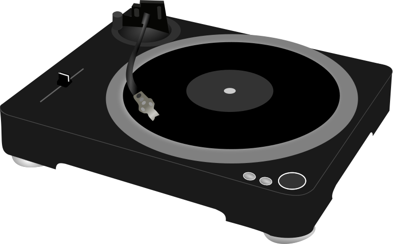 Free Clipart: DJ turntable.