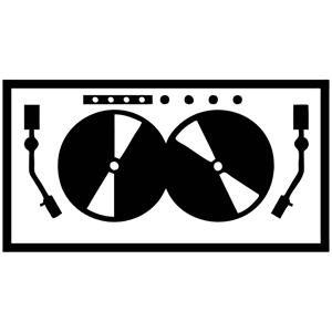 DJ Turntable.