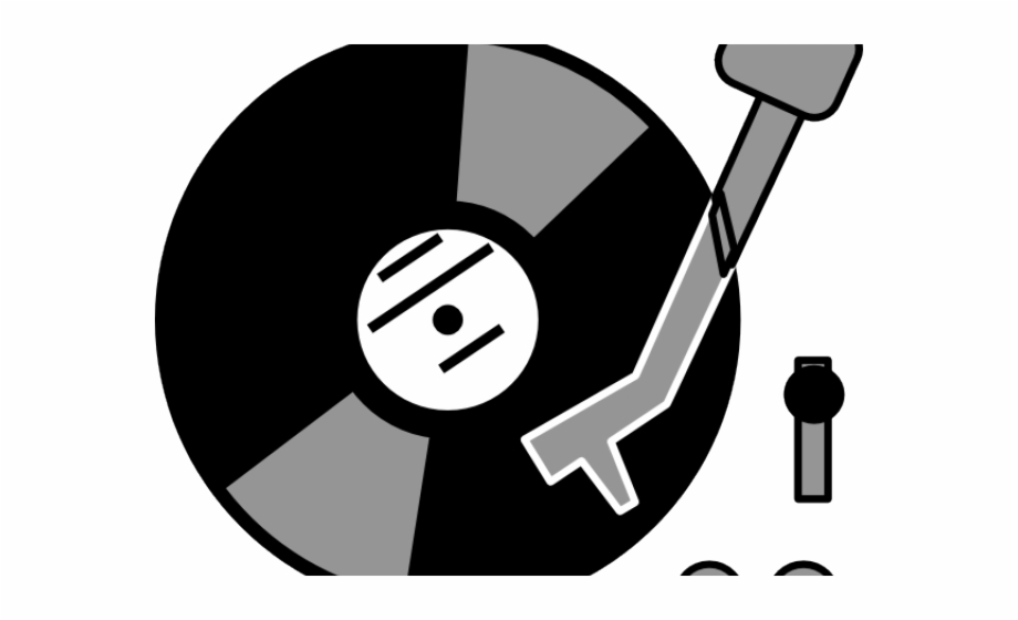 Record Player Clipart Dj Table.