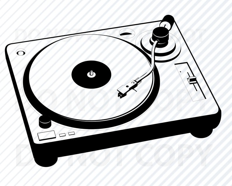 DJ Turntable SVG Files For Cricut & Silhouette.
