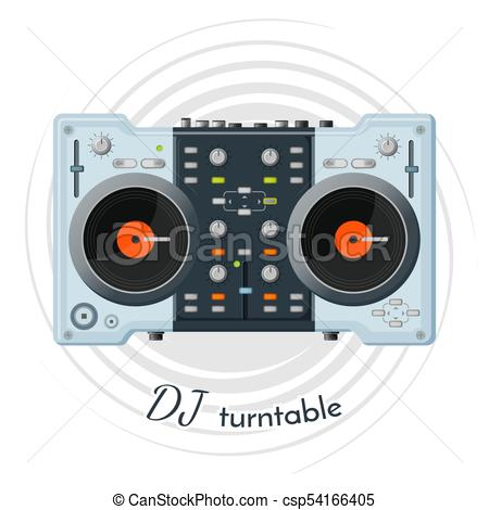 DJ turntable with lot of functions for music tune.