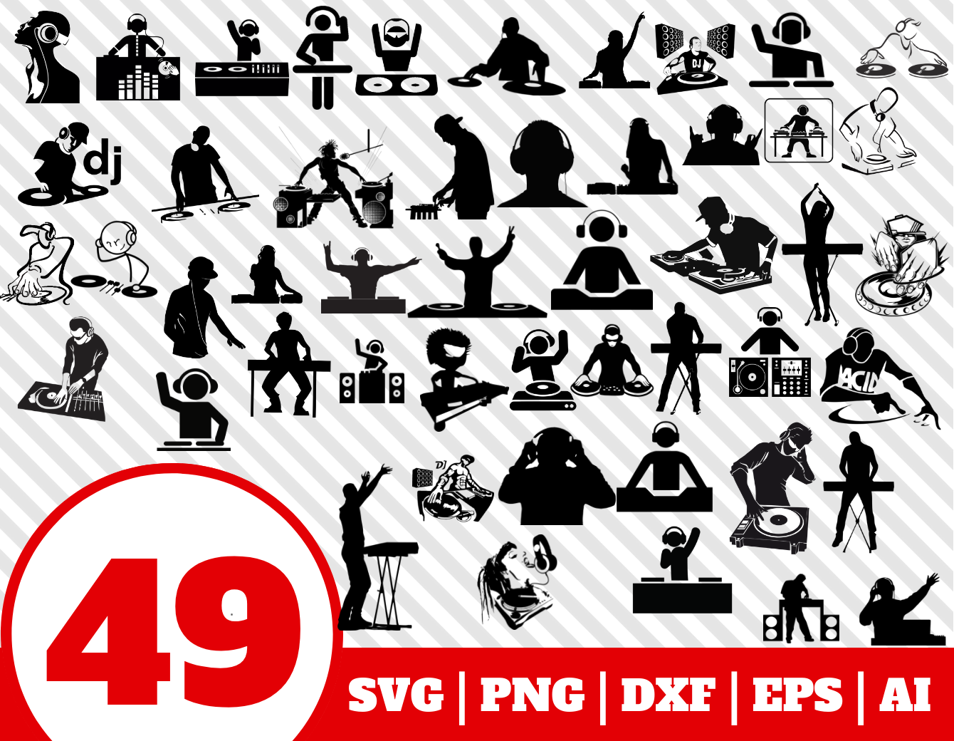 49 DJ SVG BUNDLE.