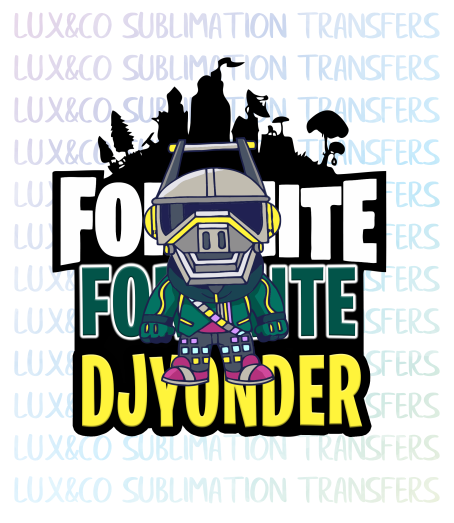 Fortnite DJ Yonder Sublimation Transfer.